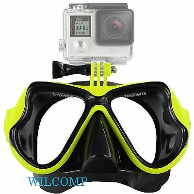 AU29.95 • Buy With GoPro Bracket Liquid  Silicone Mask For Snorkelling Scuba Diving WIL-DM-GPY