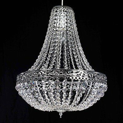 Large Moroccan K9 Crystals Chrome Chandelier Easy Fit Pendant Light Shade Gift • 39.54£