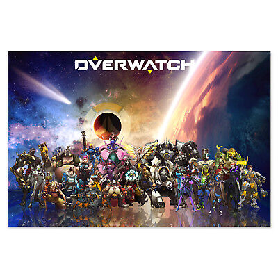 AU37.25 • Buy Overwatch Game Poster - Exclusive Design Of All Heroes - High Quality Prints