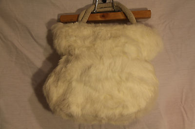 $ CDN45.27 • Buy Danier Rabbit Fur Small White Handbag Purse Excellent Used Condition