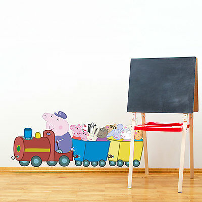 Peppa And Friends Train Wall Sticker | Official Peppa Pig Wall Stickers • 12.50£
