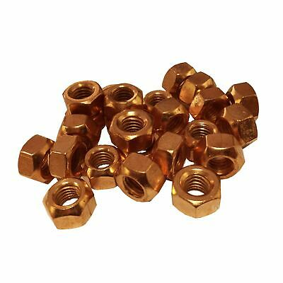 M10 Copper Flashed Exhaust Manifold Nuts 10mm X 1.5 Pitch High Temperature • 2.69£