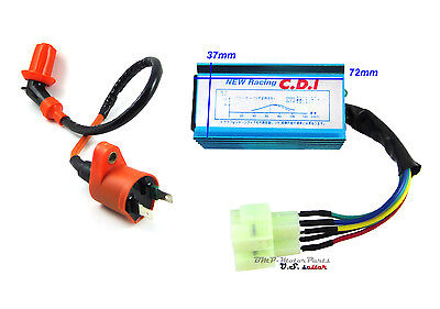 $13.95 • Buy Chinese GY6 Racing Performance Ignition Coil &6 Pins CDI Box 50cc 150cc Scooter
