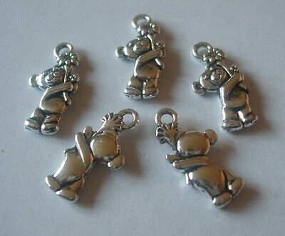 £1.59 • Buy 12 X Bear Teddy Charms 19x10mm Antique Silver Tone Pendants Crafts