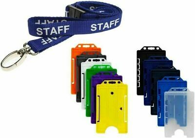 £1.99 • Buy STAFF Neck Strap Lanyard With Colour Choice ID Card Pass Badge Holder - FREEPOST