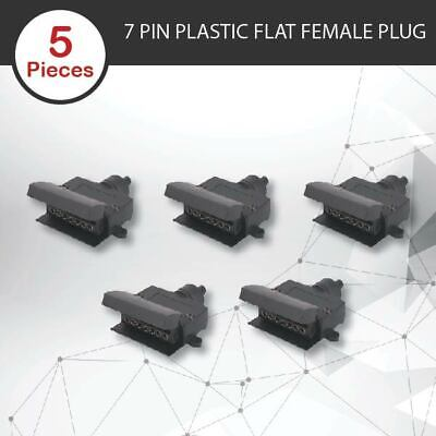 AU22.45 • Buy 5 X TRAILER PLUG 7 PIN FLAT FEMALE RECTANGLE CARAVAN TRAILER BOAT TRAILER PART