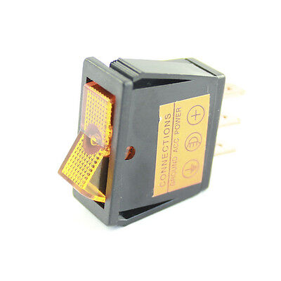 Amber Illuminated Rocker Switch - On / Off  - Car Tractor 12v Dash Light  • 2.85£