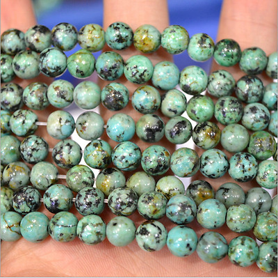 $ CDN6.59 • Buy Natural African Turquoise Gemstone Round Beads 15.5'' 4mm 6mm 8mm 10mm 12mm