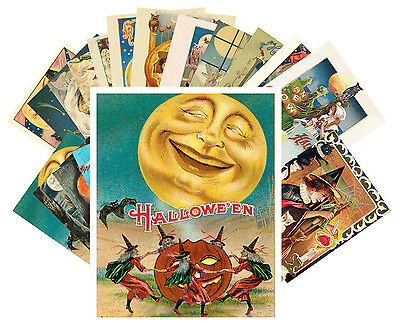 $ CDN9.13 • Buy Postcards Pack [24 Cards] Halloween Witch Pin Up Vintage Greeting Cards CC1013