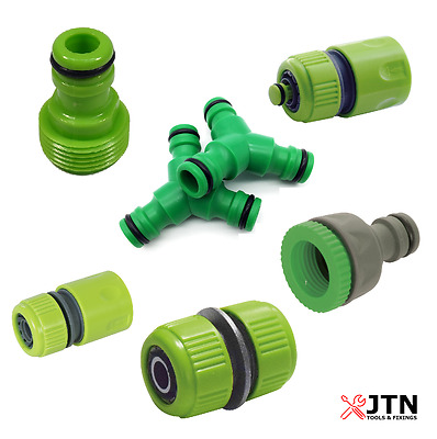 Universal Garden Watering Water Hose Pipe Tap Plastic Connector Adaptor Fitting  • 2.65£