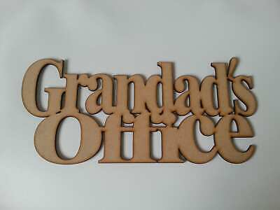Wooden Mdf Grandads Office Sign Gift Shed Fathers Day Grandad Craft Blank S97 • 4.25£