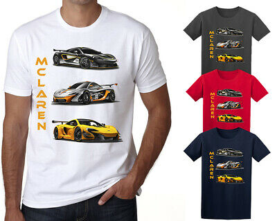 Cars Collection Mens T Shirt Kids Sports Cars Gift White DT • 6.39£