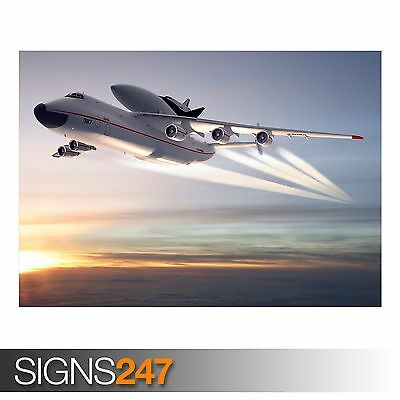 SPACE SHUTTLE AERIAL LAUNCH (AC163) ARMY POSTER - Poster Print Art A0 A1 A2 A3 • 7.95£