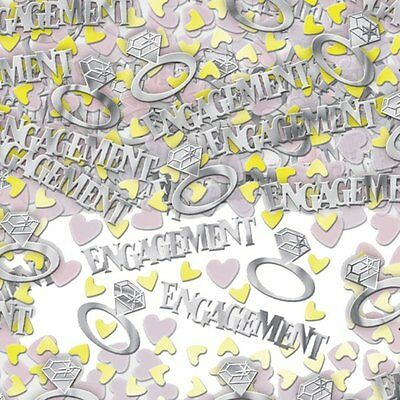 1,3,5 Engagement Table Confetti 14G Silver Rings Gold Hearts Party Decor Foil • 1.99£