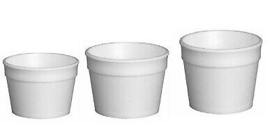 White Disposable / Insulated Tubs Food Serving,Ice Cream  Cups - Sleeve Of  25 • 6.99£