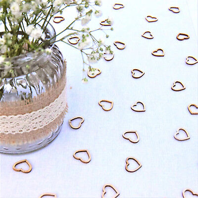 £3.39 • Buy Wedding Table Decorations Hollow Rustic Small Wooden Love Hearts Table Confetti