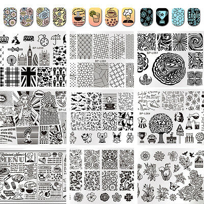 $ CDN3.14 • Buy Born Pretty Nail Art Stamping Plates Image Stamp Template Rectangle Square Round