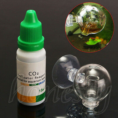 $2.89 • Buy Aquarium Carbon Dioxide CO2 Monitor Glass Drop Ball Checker Tester PH Indicator