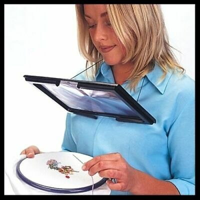 £10.99 • Buy Giant Large Hands Free Magnifying Glass With LED Light Magnifier Reading Sewing