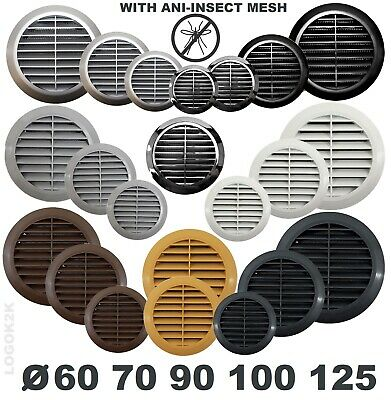 £2.99 • Buy Circle Air Vent Grill Cover Round Ducting Ventilation Fly Net Wall Ceiling 4  5
