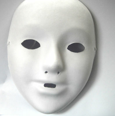 £6.99 • Buy 4 X SMALL CHILDRENS Kids Plain White Mask Paint Craft Masquerade MASKS PARTY