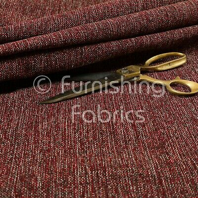 £0.99 • Buy Soft Quality Flat Basket Weave Red Chenille Plain Upholstery Furnishing Fabric