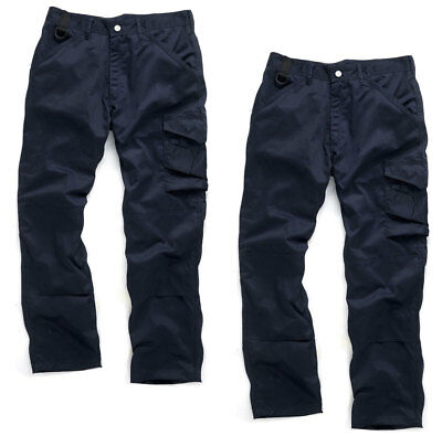 Scruffs WORKER TWIN PACK Navy Multi Pocket Work Trousers (All Sizes) Mens Trade • 12.95£