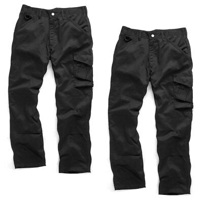 Scruffs WORKER TWIN PACK Black Multi Pocket Work Trousers (All Sizes) Mens Trade • 18.95£