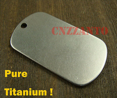 $9.99 • Buy Pure Titanium Personalized Dog Tag Military Army Necklace Pendant Anti-allergy