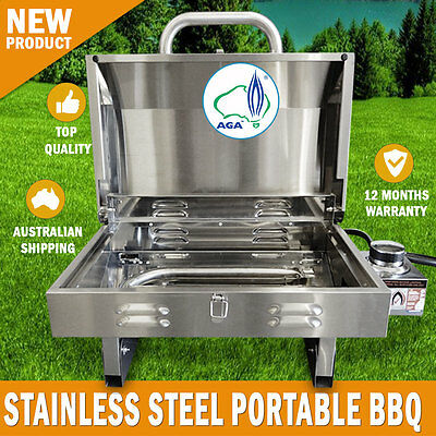 AU210 • Buy NEW Euro-Grand BBQ Portable Boat Gas Barbeque Stainless Steel Caravan