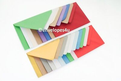 £0.99 • Buy High Quality Coloured C6 114x162mm Envelopes For A6 Cards 100gsm FREE UK P&P