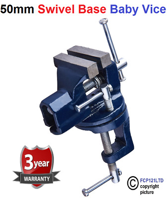 £6.24 • Buy 50mm Mini Clamp On Baby Bench Vice With Swivel Base Tabletop Workbench D3200