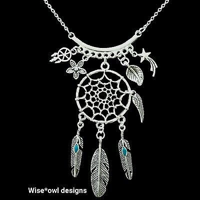Native American Dream Catcher Necklace. Sterling Silver Chain Option. Gift Boxed • 9.99£
