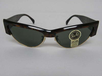 $249.99 • Buy New Vintage B&L Ray Ban Onyx Style 7 Jasper Strata Tortoise W1300 Cat Eye  NOS