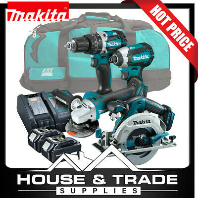 AU1090 • Buy Makita Brushless Tool Combo Kit 4 Piece Cordless + 2x 5.0Ah Batteries & Charger