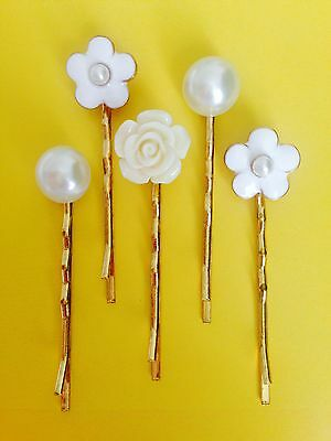 $ CDN8.84 • Buy Wedding Hair Accessories Hair Grip Bobby Pin Hair Clip Bridesmaids Pearl-5 Pcs