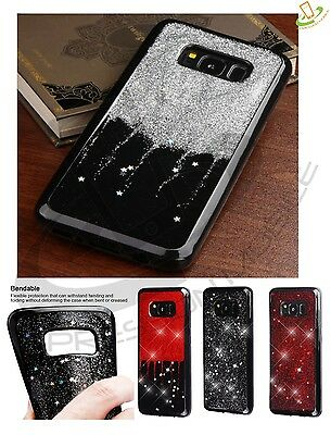 $ CDN10.44 • Buy Samsung GALAXY S8 / Plus BLING Hybrid Glitter Sparkle Rubber Silicone Case Cover