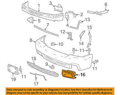 $132.80 • Buy Chevrolet GM OEM Silverado 1500 Classic Front Bumper-Air Duct Right 89025754