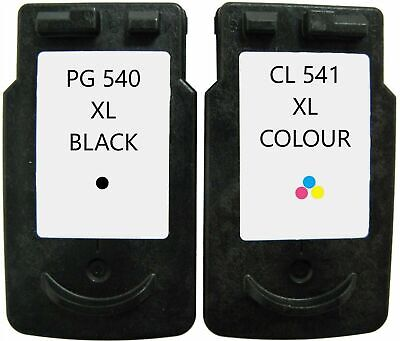 Refilled Ink For Canon PG 540XL Black And CL 541XL Colour For Pixma MX475 • 24.49£