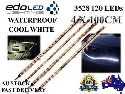 AU18.89 • Buy 4X 1M 12V Waterproof Cool White 3528 Flexible Led Strip Lights Camping Boat Car