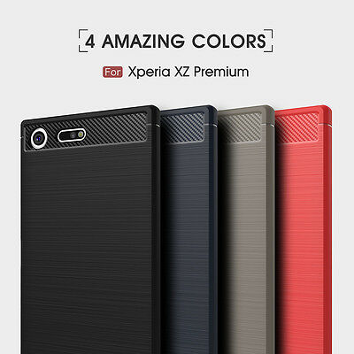 $ CDN4.58 • Buy Shockproof Rugged Fiber Soft Rubber Skin Slim Back Case Cover For Sony Xperia XZ