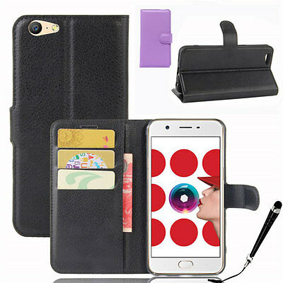 AU11.89 • Buy HQ Wallet Money Card Leather Case Cover For OPPO A57 + FREE Stylus