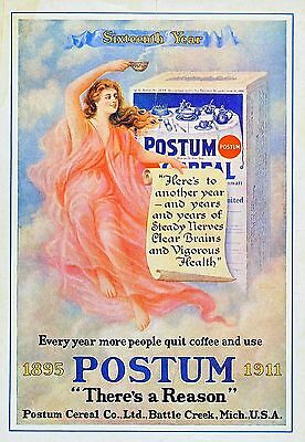 £14.99 • Buy Postum Cereal  METAL TIN SIGN POSTER WALL PLAQUE