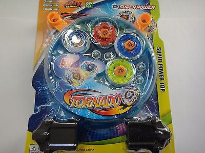 $9.98 • Buy 4D Lian Fa Metal Fusion Beyblade Clash Tornado Super Power Top Set Brand New