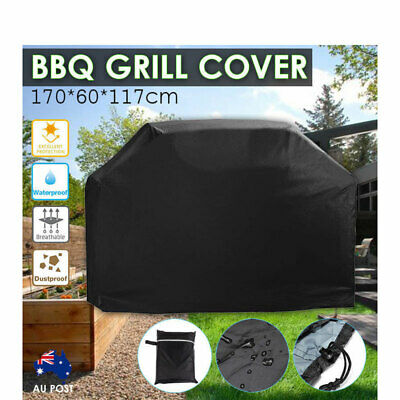 AU20.59 • Buy BBQ Grill Cover Waterproof 4 Burner Outdoor Gas Charcoal UV Protector Barbecue