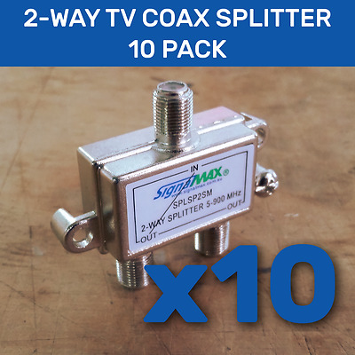 AU29.95 • Buy 2way TV Splitter - 10 Pack