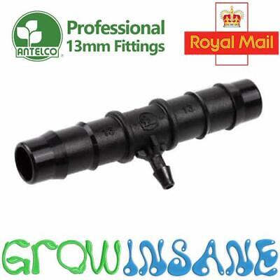 Barbed Reducing Tee 13mm To 4mm Connector Irrigation Pipe Hose Antelco Hozelock • 1.79£