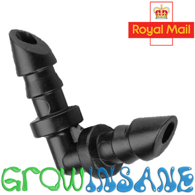 £2.85 • Buy 4mm Micro Irrigation Barbed Elbow Piece Connector Hozelock Compatible Hydroponic