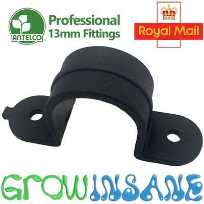 Saddle Clamp Clip - 13mm LDPE Pipe Tube Hose Garden Irrigation Tidy Professional • 2.95£