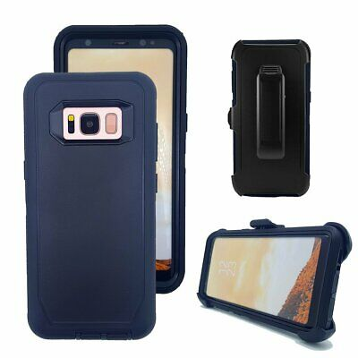 $ CDN14.14 • Buy Samsung Galaxy S8 S8+ NEW Defender Shock Proof Rugged Case Clip Fit Otterbox Bk